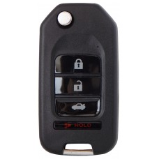 LLAVE CONTROL TIPO HONDA con control 4 botones para generar Mini KD * Sin inserto y sin chip