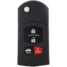 LLAVE CONTROL TIPO MAZDA con 4 botones para generar Mini KD * Sin inserto y sin chip