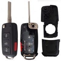 CARCASA VW Jetta Clasico Mod. 09-15 con llave Abatible 4 botones para control de alarma