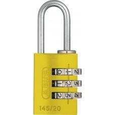 CANDADO COMBINACION ABUS de 22 mm. Aluminio Anodizado Amarillo Reprogramable de 3 digitos SEG. Nivel 3