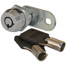 CILINDRO PARA MUEBLE LLAVE TUBULAR 2 salidas 90° con paleta cilindro roscado 1.6 cm.  7 PERNOS