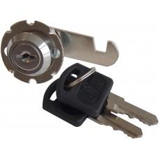 CILINDRO PARA MUEBLE LLAVE STD. 90° con paleta de gancho cilindro roscado de 2 cm.