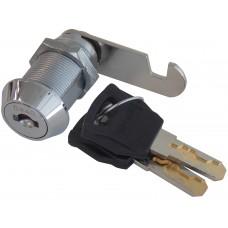 CILINDRO PARA MUEBLE LLAVE REGATA 90° con paleta de gancho cilindro roscado de 3 cm.