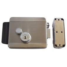 CERRADURA ELECTRICA CON BOTON de 12 V de Acero Inoxidable con llave de seguridad