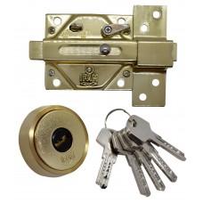 CERROJO DE SEGURIDAD IFAM CS88L-LV con llave de seguridad laton brillante