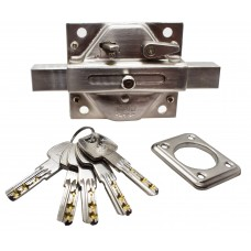 CERROJO DE SEGURIDAD IFAM CS88SC-M50 con llave de seguridad niquel satin