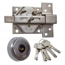 CERROJO DE SEGURIDAD IFAM CS88SC-LV con llave de seguridad niquel satin