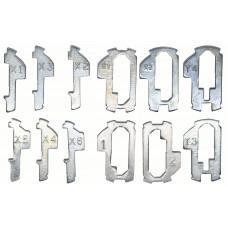 KIT DE TECLAS PARA CILINDRO DE HONDA 6 diferentes Corte regata Tipo 1 (24 piezas) y Tipo 2 (6 pzas)